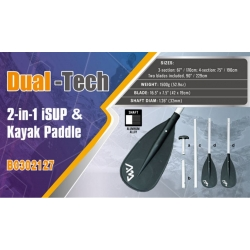 DUAL - TECH iSUP Kayak Paddle 2 in 1